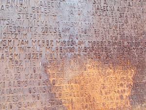 117 - Katyň - texty přes 20 tisíc polských obětí masakru NKVD 1940 (vojáci, důstojníci, jediná žena)